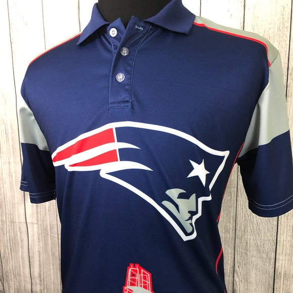 b9842751 NFL NEW ENGLAND PATRIOTS Large Blue Polo Shirt